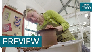 Rim folding on flower pots - The Great Pottery Throw Down: Series 2 Episode 4 Preview - BBC Two