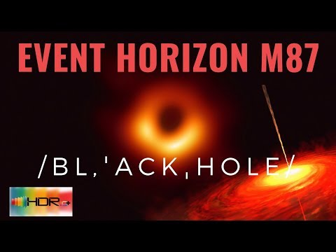 HDR10+ | BLACK HOLE SHADOW 4K [EVENT HORIZON] First Ever Picture #space
