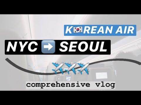KOREAN AIR ✈️ NYC TO SEOUL (JFK TO ICN) | Hann&SEOUL #1 🇰🇷