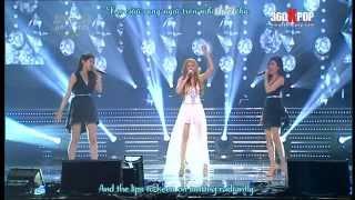 [Vietsub + Engsub + Kara] [Perf] Davichi + Hồ Quỳnh Hương - Hoang Mang