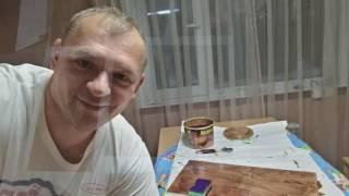 видео Реставрация кухонной мебели, гарнитура, фасада своими руками.