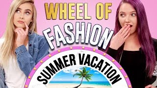 VACATION STYLE CHALLENGE?! Wheel of Fashion w/ Quincie & Candice