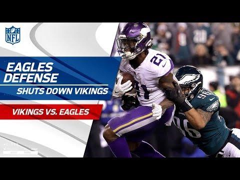 Philly Defense Shuts Down Minnesota!   Vikings vs. Eagles   NFC Championship Player HLs