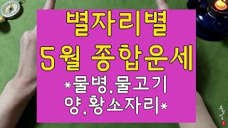 [5월 별자리별 타로운세]#물병#물고기#양#황소자리 tarot card