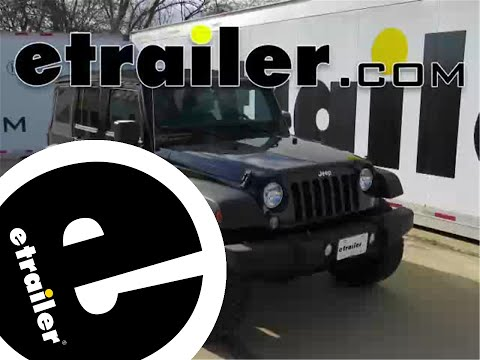 Installation of a Front Mount Trailer Hitch on a 2015 Jeep Wrangler Unlimited - etrailer.com