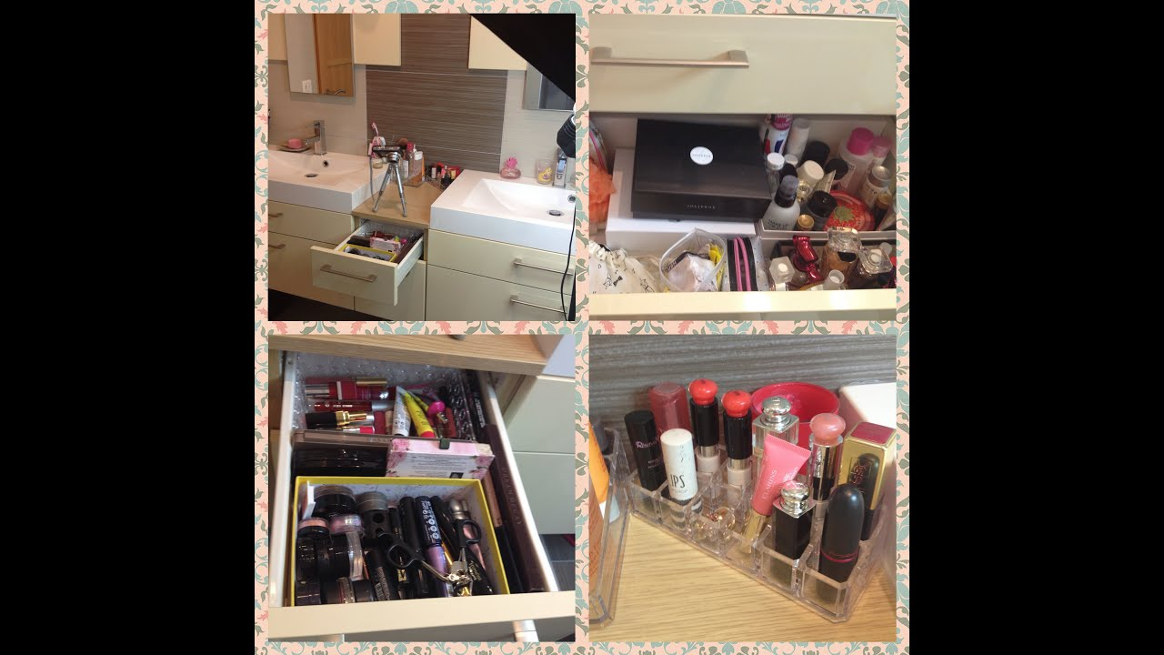 ma collection de maquillage le tour de ma salle de bain 2013 youtube. Black Bedroom Furniture Sets. Home Design Ideas