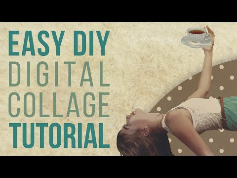 HOW TO: EASY Step By Step Digital Collage TUTORIAL | NO DRAWING SKILLS REQUIRED