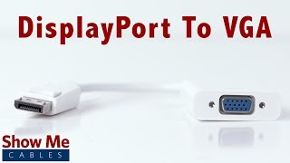 High Definition DisplayPort to VGA Adapter - Makes Video Easy #2919