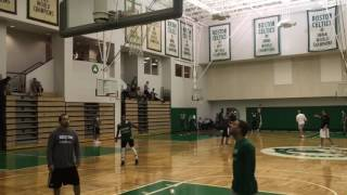 Isaiah Thomas shoots after first Boston Celtics practice