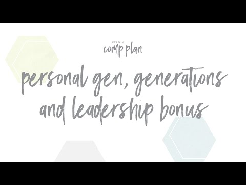 Young Living Personal Generations, Generations and Leadership Bonus Explained