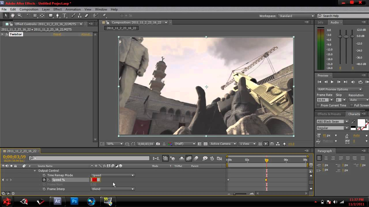 How to Use Twixtor in After Effects CS5
