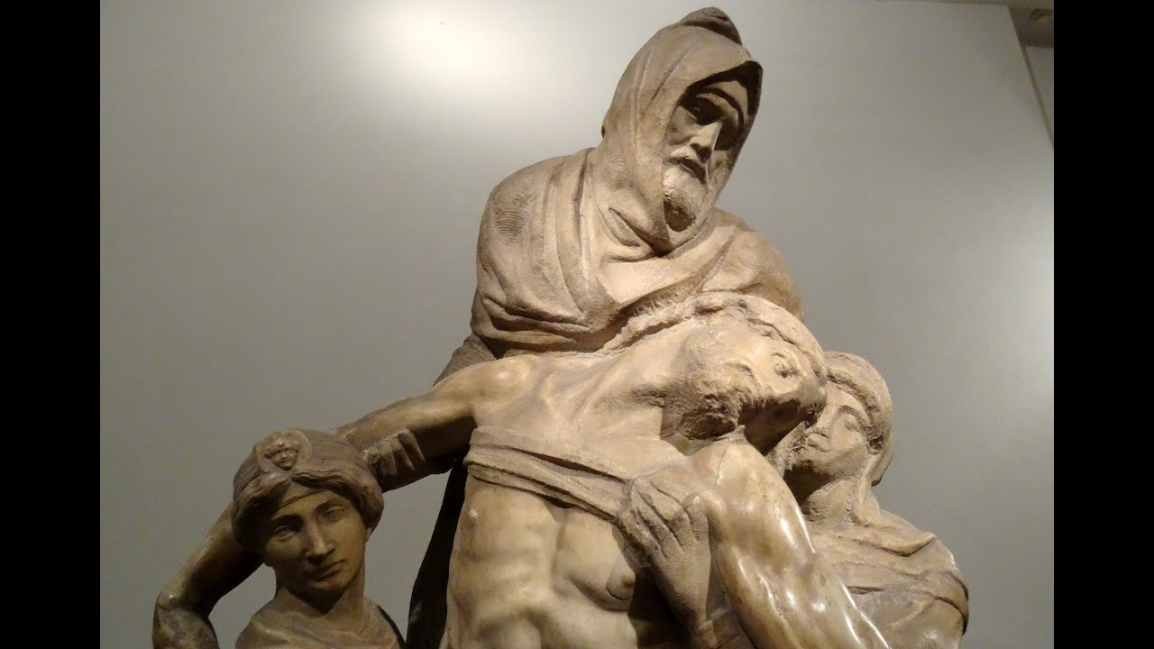 Michelangelo images - The Deposition By Michelangelo Museum Of The Cathedral Florence Italy Europe