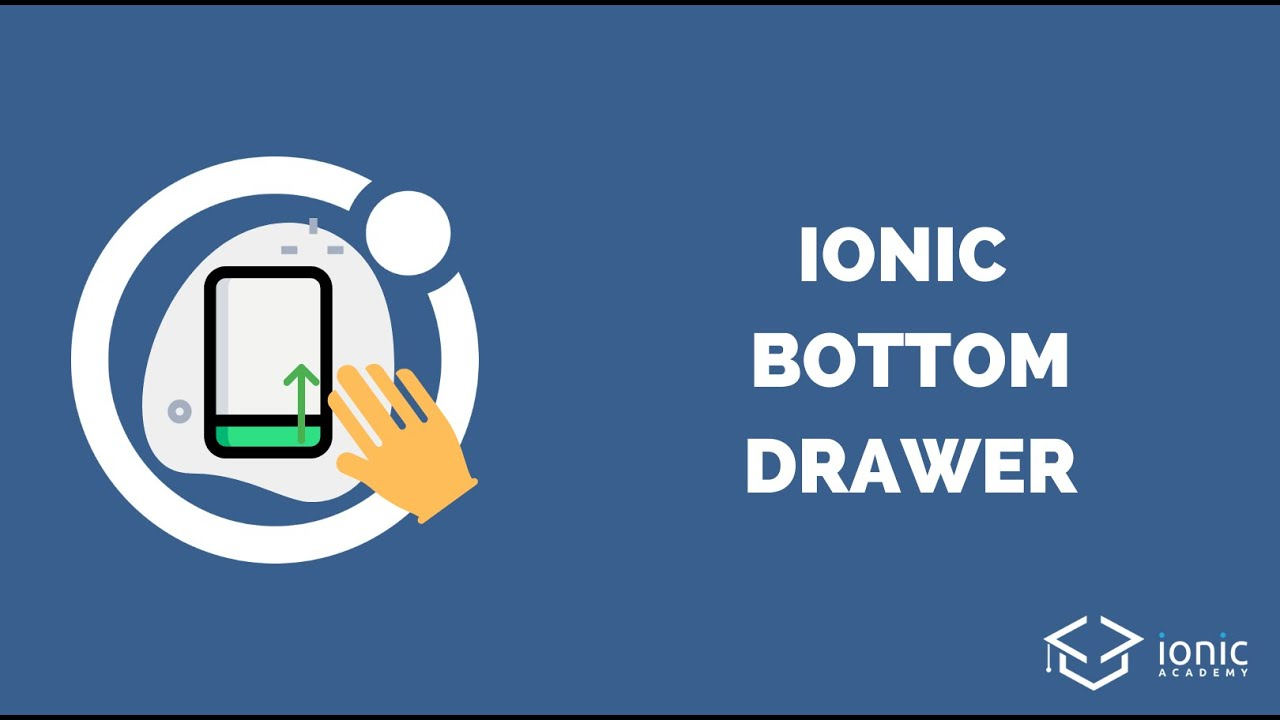 How to Create an Ionic Bottom Drawer with Gestures