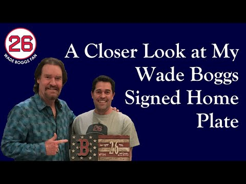 A Closer Look at My Wade Boggs Signed Home Plate