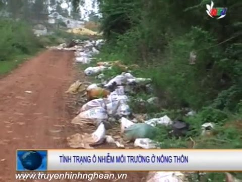 Tình trạng ô nhiễm môi trường ở nông thôn