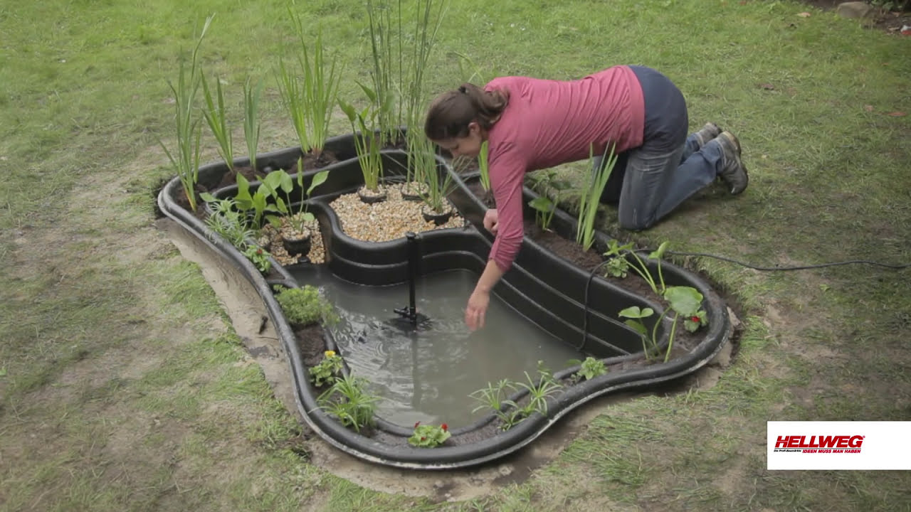 Gartenteich anlegen youtube for Ideen gartenteich anlegen