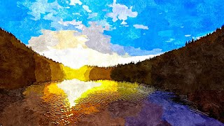 Sunrise at Mountain Lake - A Relaxing Ambisonic Nature Sounds Meditation