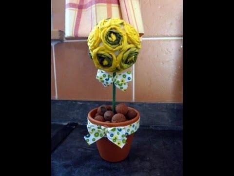 Kreatív ötletek: Tavasz - Tavaszváró csavart virág - YouTube