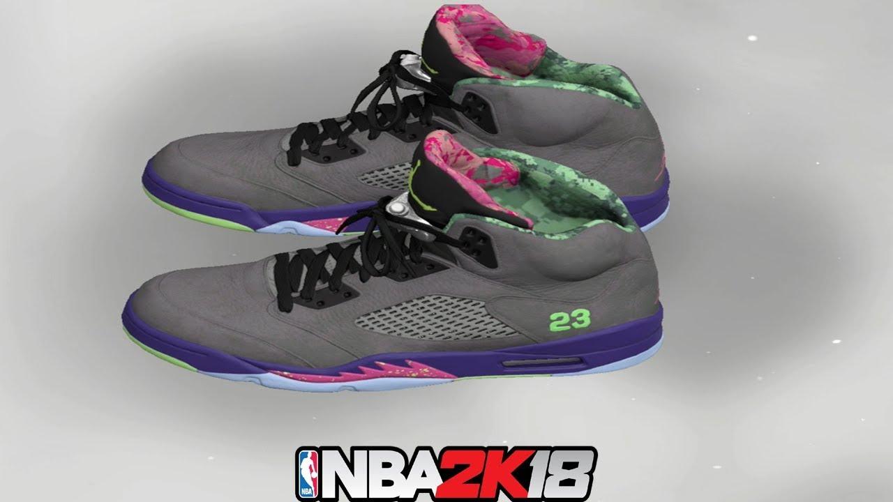 e85ceb7dd32 NBA 2K18 Shoe Creator ⋆#NBA2K18⋆ Jordan 5 Bel Air - YouTube