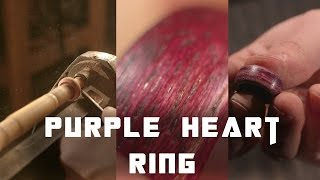 How To Make Wood Rings From Purple Heart