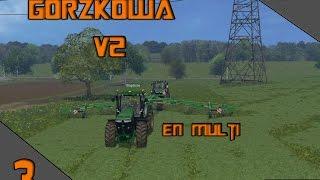 carrier suivie farming simulator 2015 sur la map Gorzkowa v2 en multi #1 ensilage  seul c bien a 2 c