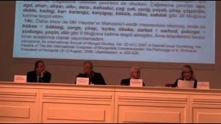Türk-Moğol Araştırmaları Çalıştayı (24 Ekim 2014) - Birinci Oturum