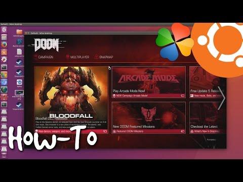 Install DOOM 2016 on Wine in Ubuntu Linux (PlayOnLinux)