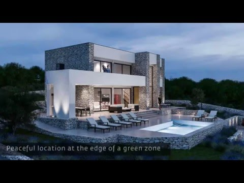 REAL ESTATE CROATIA | ISLAND OF KRK | BEAUTIFUL MODERN VILLA WITH A VIEW OF THE SEA