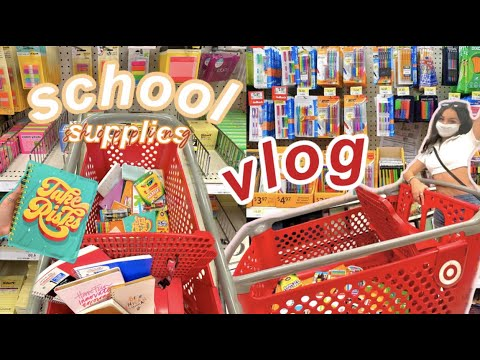 shopping for my BACK TO SCHOOL supplies vlog *junior year*