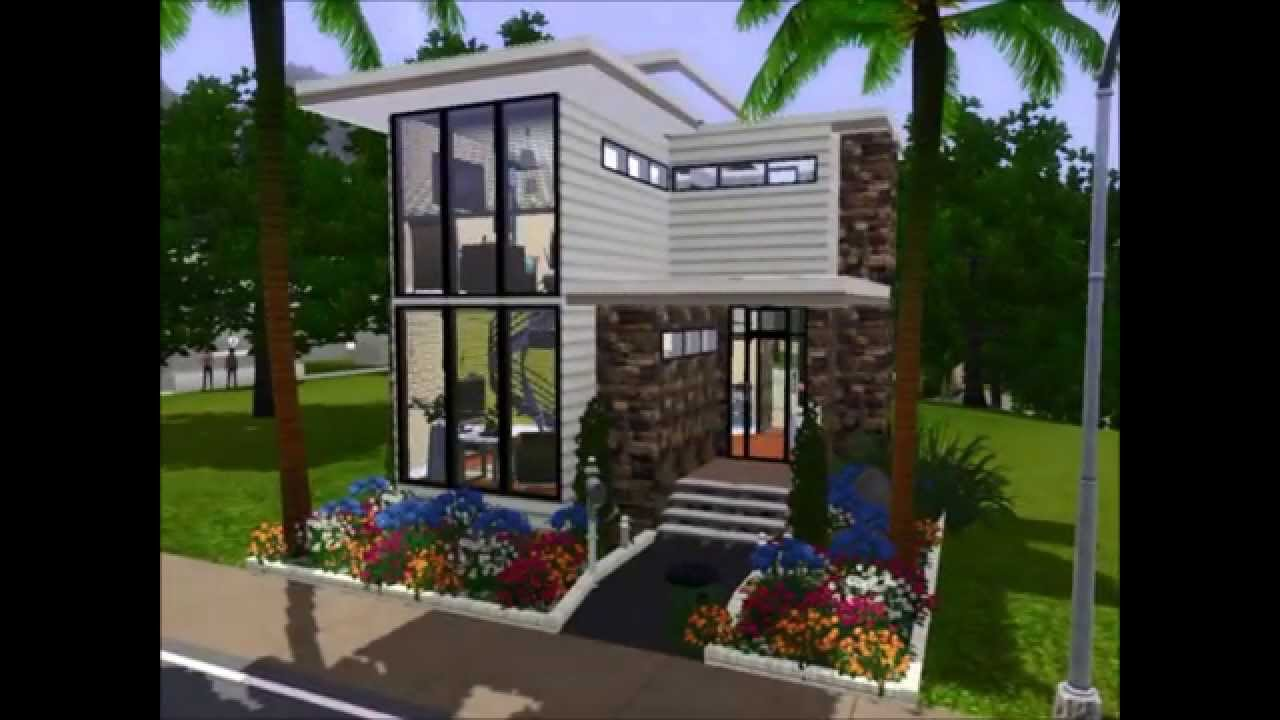 sims 3 work from home sims 3 mini modern studio loft house simsarchitecture 7602