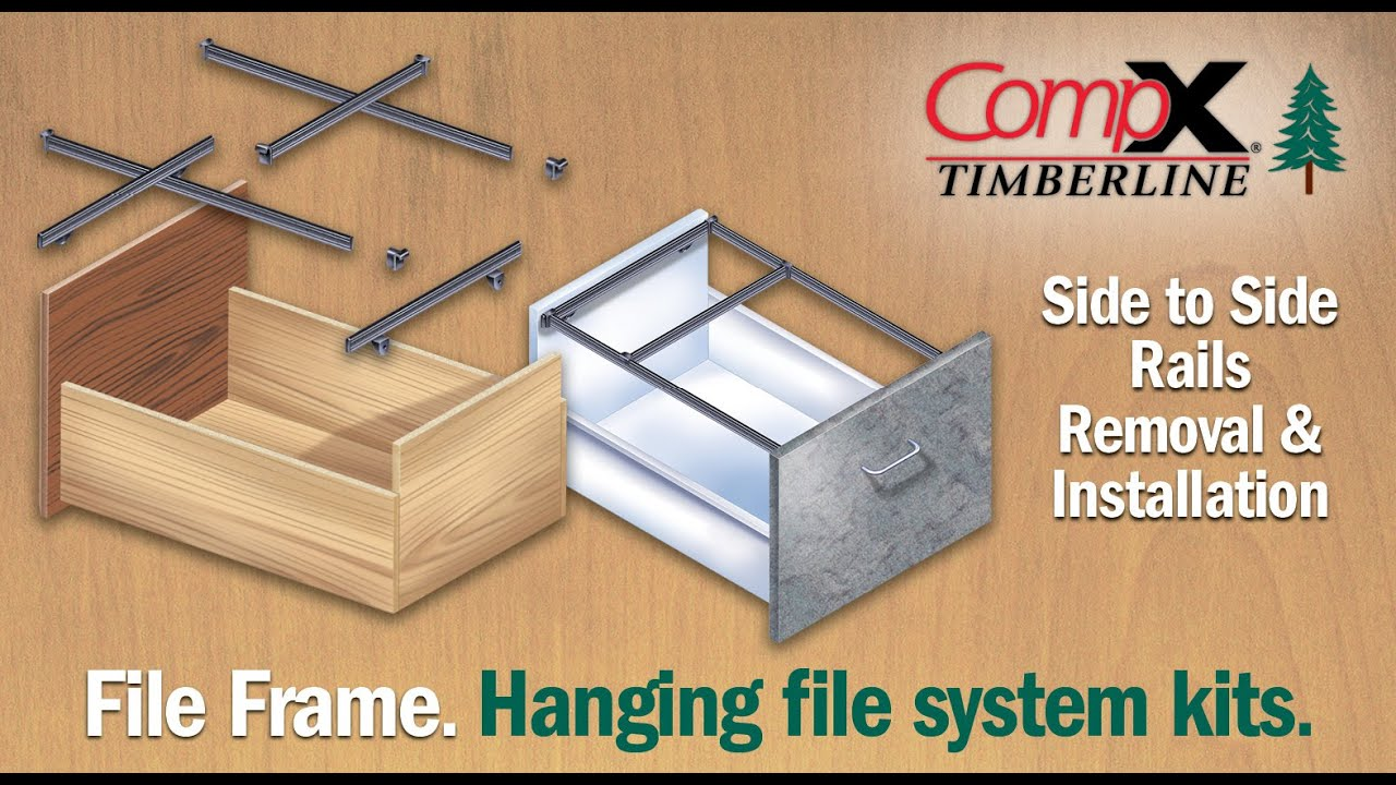 CompX Timberline  File Frame Side to Side Rails Removal