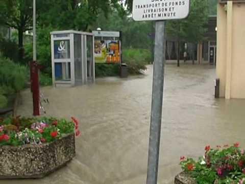 Le déluge à Meylan, inondations aux Buclos, 06 juin 2010