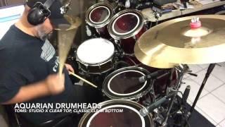 Aquarian 13/'/' Super-2 Clear w//Studio-X Ring Drumhead