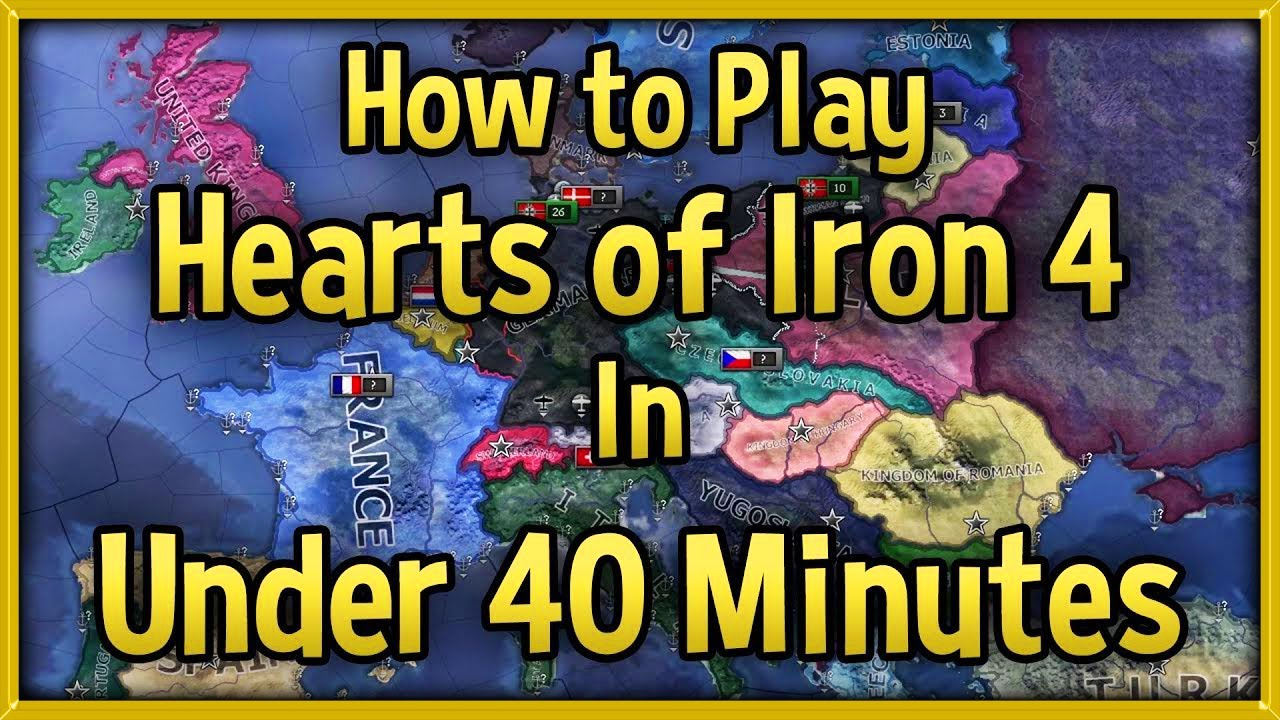 Hearts of Iron 4 Tutorial 🔴 How to Play HoI4 in Under 40 Minutes Guide!  [No DLC]