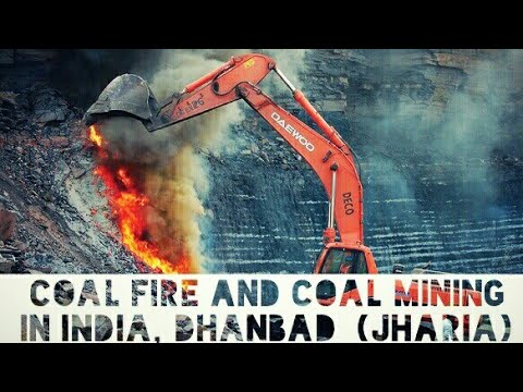 Coal Fire in Jharkhand, jeenagora ocp Jharia, Dhanbad (BCCL)  || Coal Mining in India