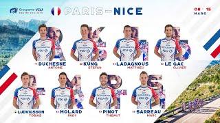 La composition de l'Équipe cycliste Groupama-FDJ pour Paris-Nice 2020