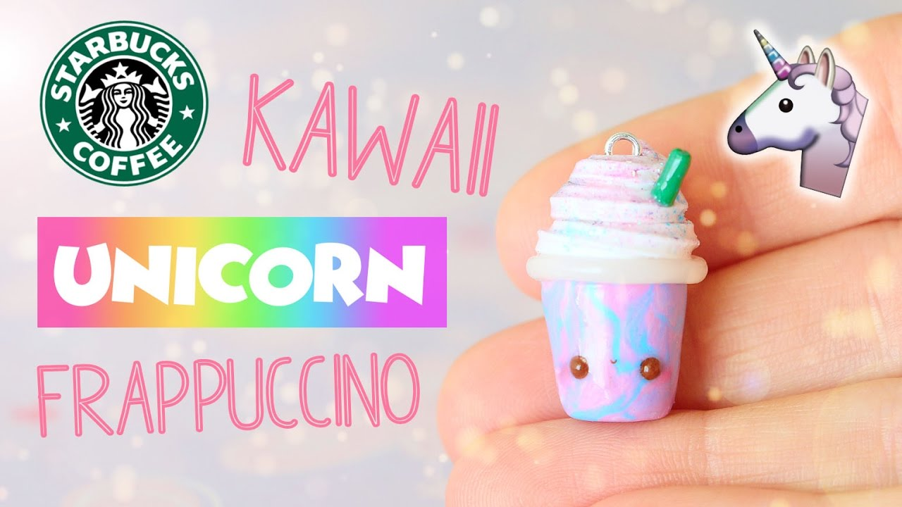 Cute Frappuccino Wallpaper Miniature Kawaii Unicorn Frappuccino│polymer Clay Tutorial