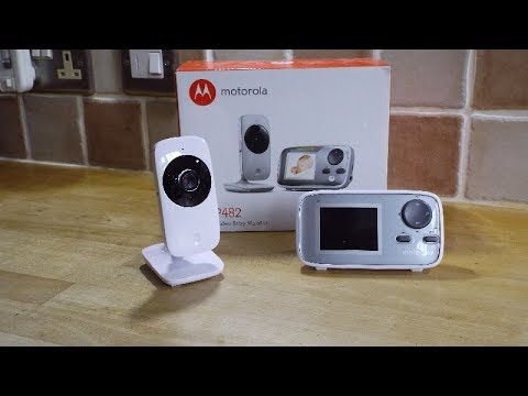 MOTOROLA MBP481  MBP482 digital video Baby Monitor review.