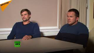 Interview: Skripal Poisoning 'Suspects' Deny They're Military Intelligence Agents
