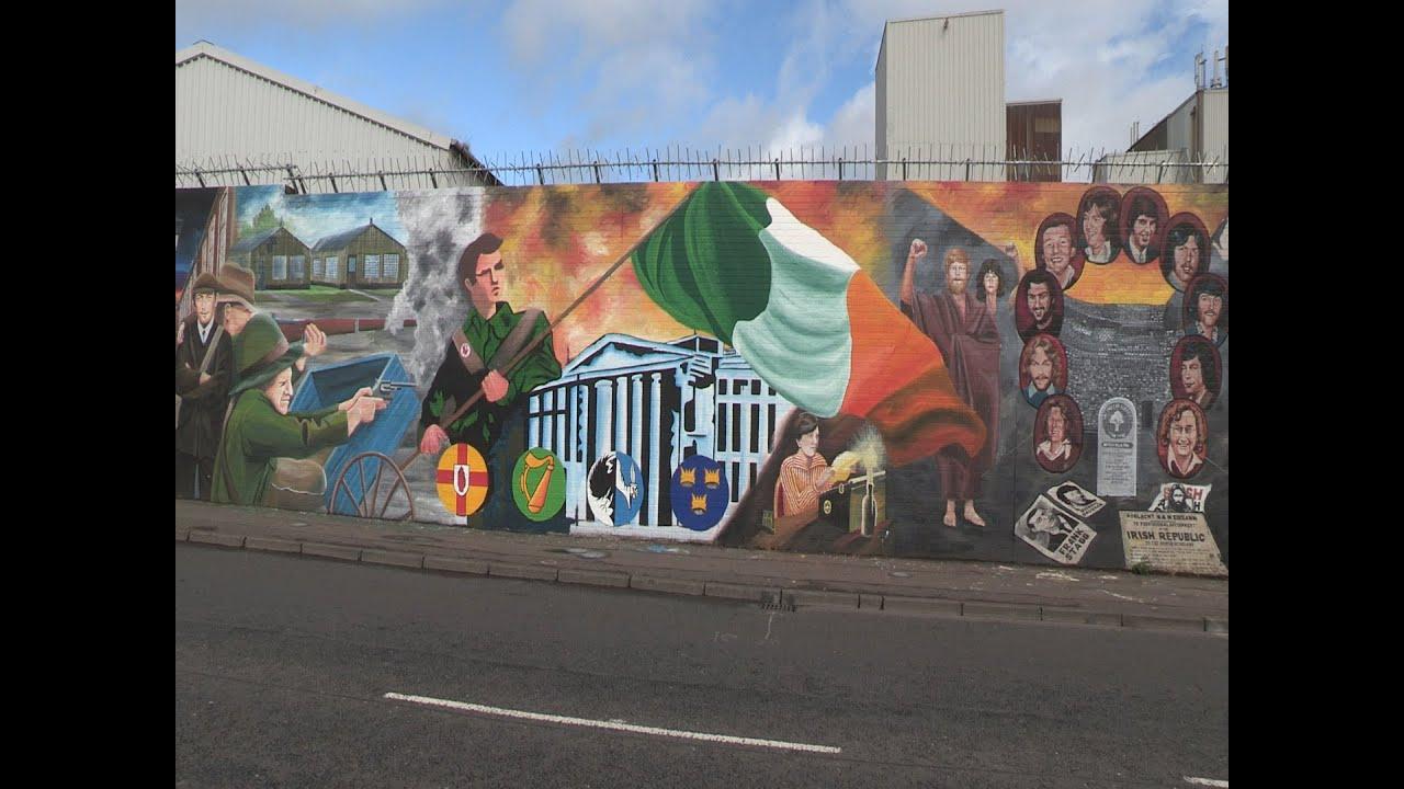 International wall 1916 mural launch youtube for Easter rising mural
