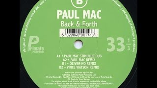 Paul Mac - Back & Forth ( Paul Mac Remix )