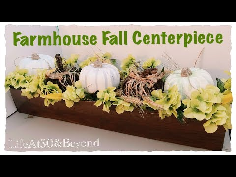 Dollar Tree DIY Faux Wood Centerpiece | Farmhouse Fall Home Decor