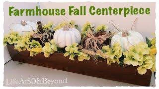 Dollar Tree DIY Faux Wood Centerpiece | Farmhouse Fall Home Decor
