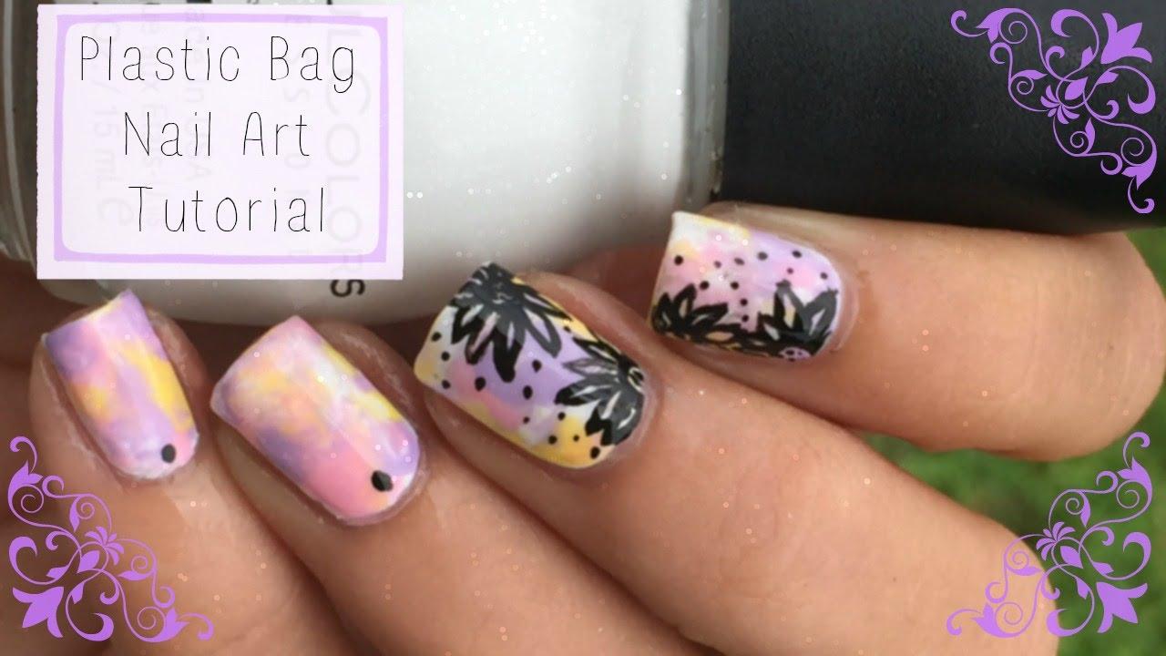 Plastic Bag Nail Art Tutorial Youtube