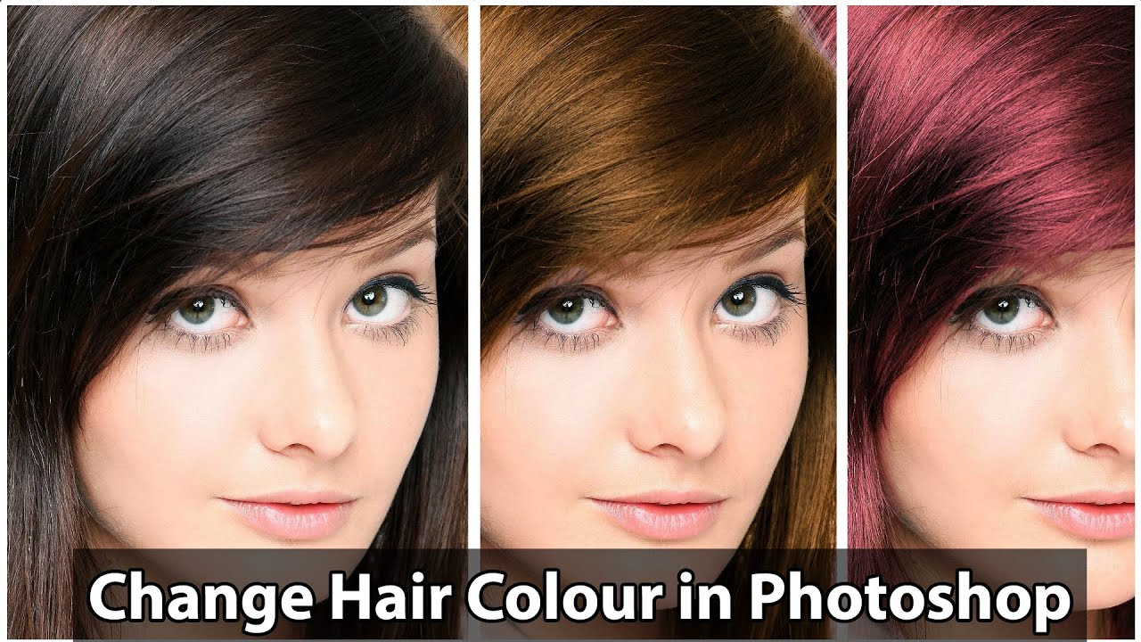 How to change Hair Color in Photoshop Tutorial - [ 2014 ] - YouTube