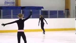 Repeat youtube video Юлия Липницкая (Julia Lipnitskaya), FS at practice Russian Juniors 2013