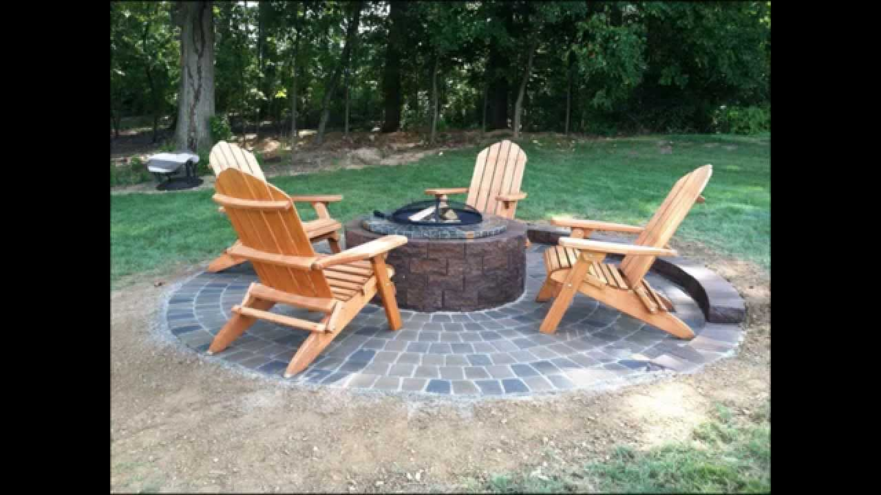 Small Patio U0026 Fire Pit Landscape Construction   Hanover, Pa 17331   YouTube