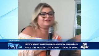 Prefeita de Alto Santo Íris Gadelha participa de reunião da APRECE com prefeitos e secretário estadu
