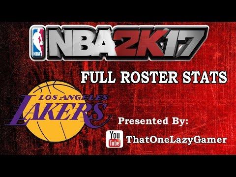 """NBA 2K17 """"LA Lakers"""" Full Roster stats"""