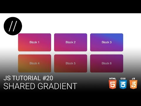 JS Tutorial #20 — Shared Gradient [UP/TO/DATE] thumbnail